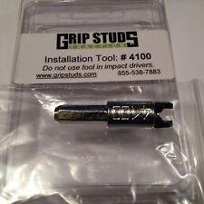 Grip Studs Off Road 4x4 Tire Studs, #4100 Stud Install Tool for Studs 1100 3000B