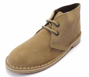 Dark Brown Retro 70s MOD Style Real Suede Desert Boots