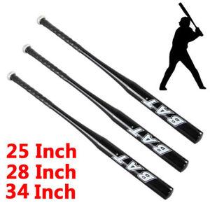si Aluminium Metal Baseball Bat Lightweight 30 Full Size Youth Adult BLACK