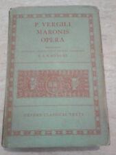 P. Vergili - MARONIS OPERA - 1972 - Oxford Classical Texts - TESTO IN LATINO