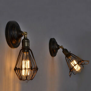 Retro Bedside Lamps Wall Lights Indoor Wall Light led Glass Wall Sconce eBay