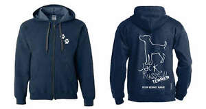 Women's Clothing Exclusive Dogeria Design, Jack Russell Terrier Full Zipped Dog Breed Hoodie