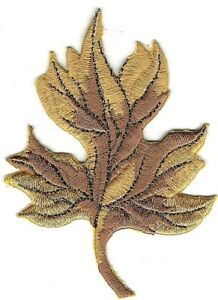"""3.2 """" Jaune Feuille Broderie Fall Automne Feuilles Patch"""