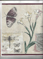 Wallpaper Border Flowers Butterfly Dragonfly Arrival Floral