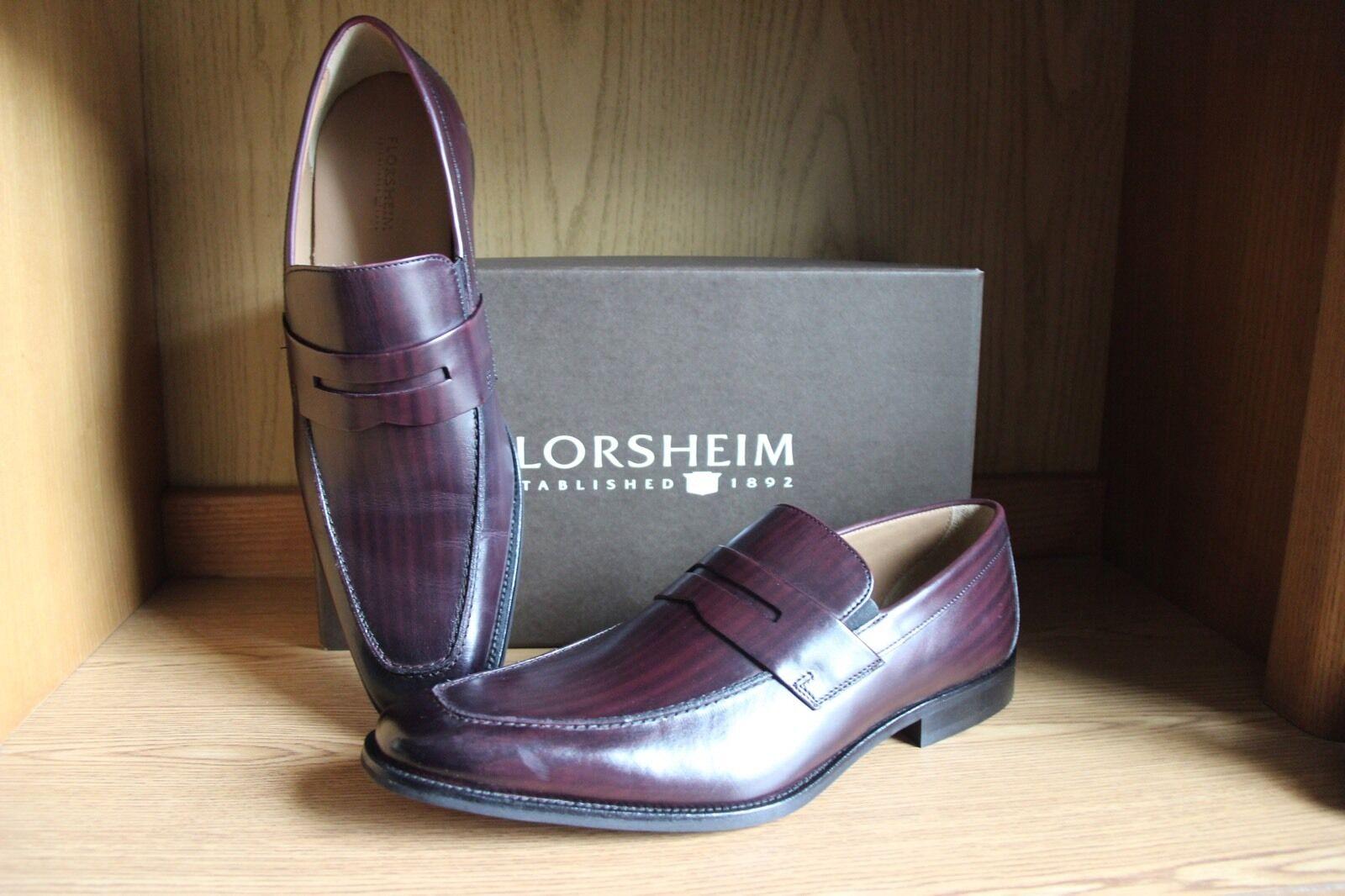 Florsheim Sabato Penny Dress Loafer Wine Men Size 12  12125