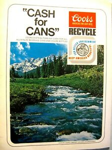 1974-Coors-Beer-CASH-FOR-CANS-Original-Print-Ad-8-5-x-11-034