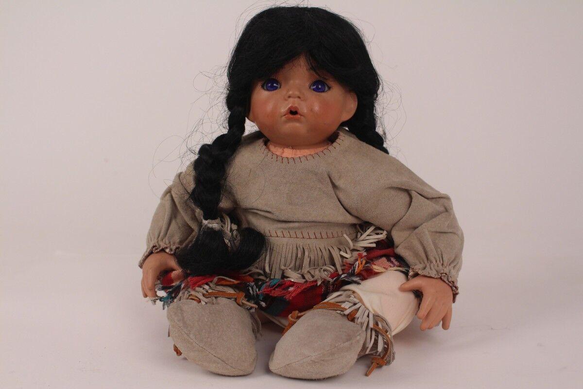 Aaron di Dianna Effner 1991 Bambola D'Autore in  Porcellana da Collezione Indiani  nuovo sadico