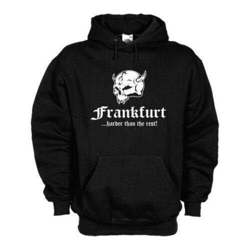 6XL SFU14-38d Hoodie S Kapuzenpullover Frankfurt ..harder than the rest