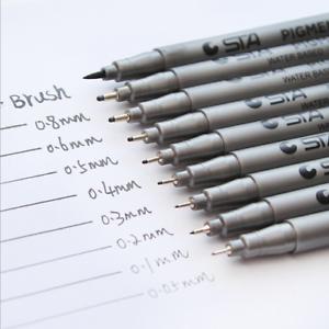1pcs-Brush-Markers-Pen-Different-Size-Pigment-Liner-Triangular-Fineliner-Pens