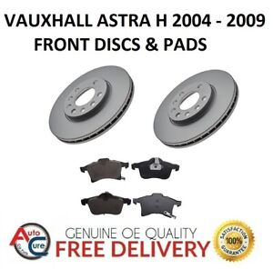 VAUXHALL-ASTRA-H-MK5-FRONT-BRAKE-DISCS-AND-PADS-SET-5-STUD-2004-2009-NEW