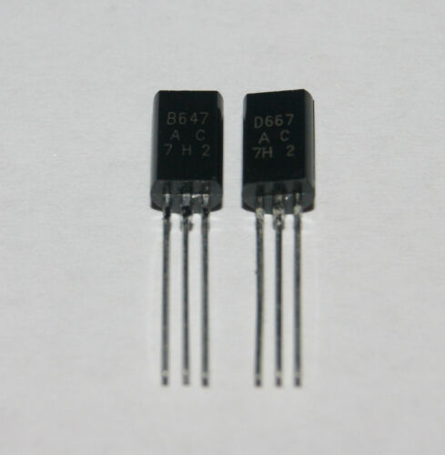 1pair New 2SB647 2SD667 Transistor Low frequency power amplifier TO-92MOD