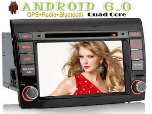 "Autoradio NAVI 7"" HD DVD Android 6.0 GPS BT 2 DIN WIFI Per Fiat Bravo 2007-2012"