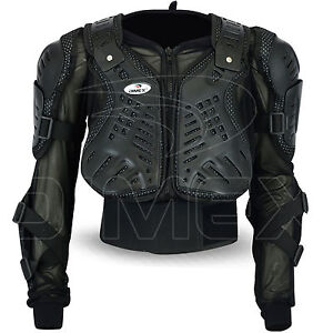 Motocross-Motorbike-Body-Armour-Motorcycle-Protection-Guard-Jacket-Black-Dimex