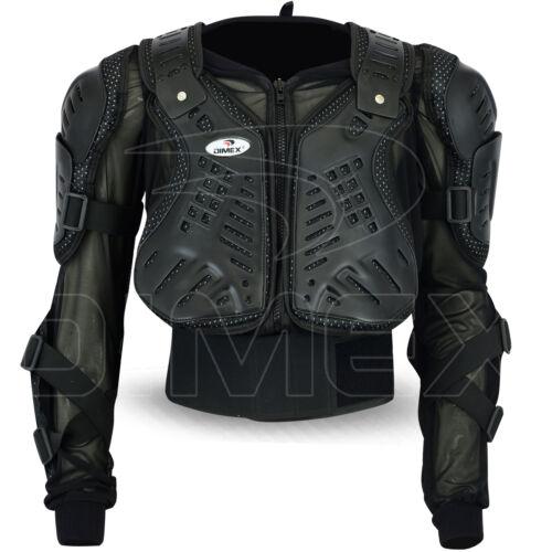 Motocross Motorbike Body Armour Motorcycle Protection Guard Jacket Black Dimex