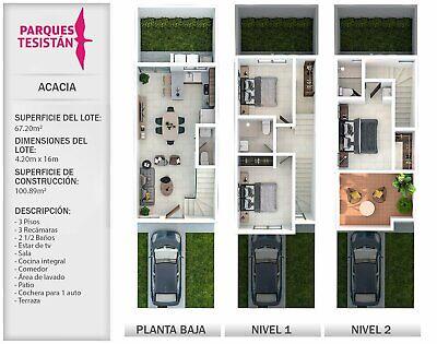 Casa en venta: Modelo Acacia, Fraccionamiento Parques Tesistán, Zapopan, Jalisco