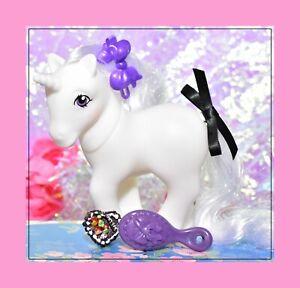 My-Little-Pony-MLP-Vtg-G1-Style-HQG1C-White-Unicorn-Winter-Blank-Retired