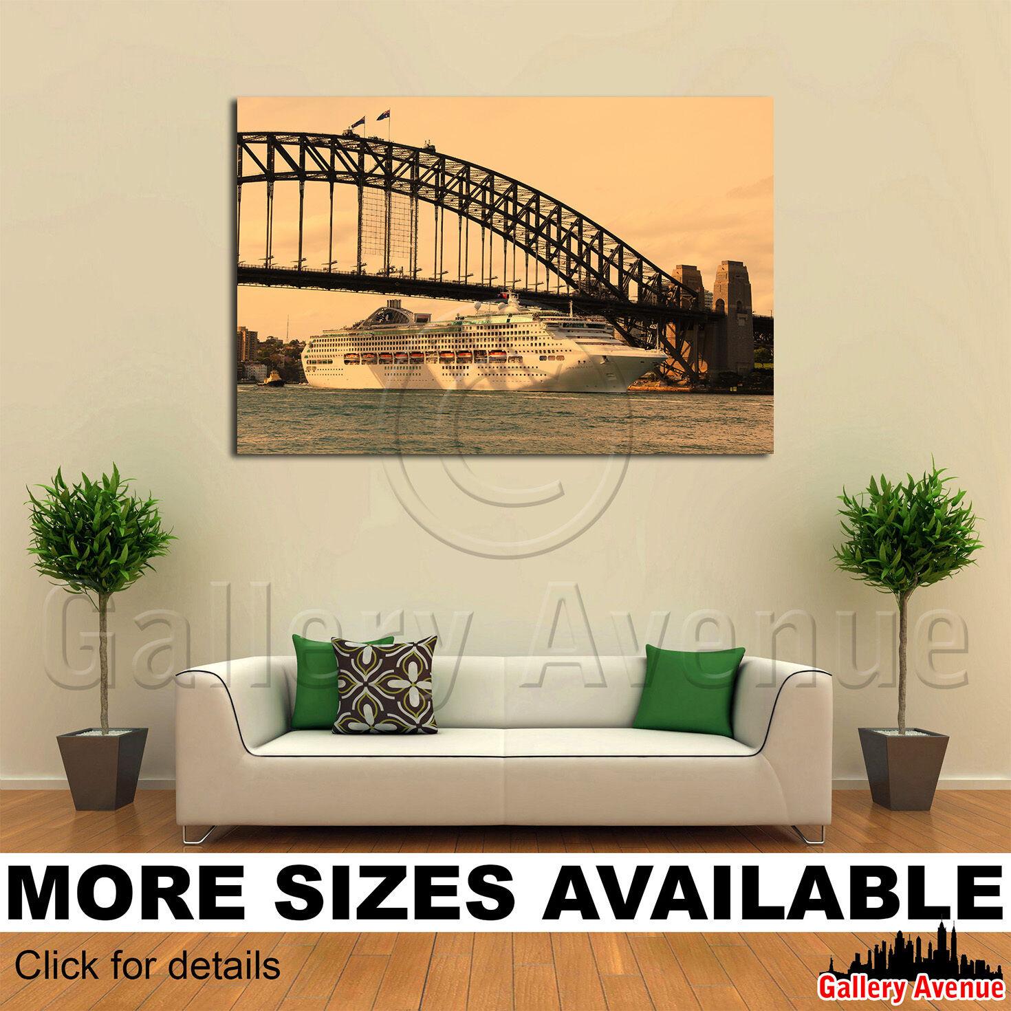 Wall Art Canvas Picture Print - Big Cuiser Ship Bridge 3.2