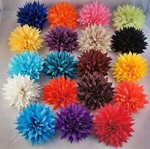 HAARBLUME-LOTUS-20-Farben-HAARBLUTE-ANSTECKBLUME-STOFFBLUME-BROSCHE-HAARSPANGE
