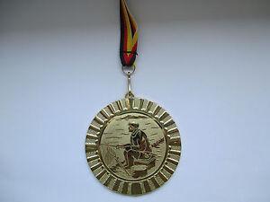25 mm//silber Pokal Emblem Angeln
