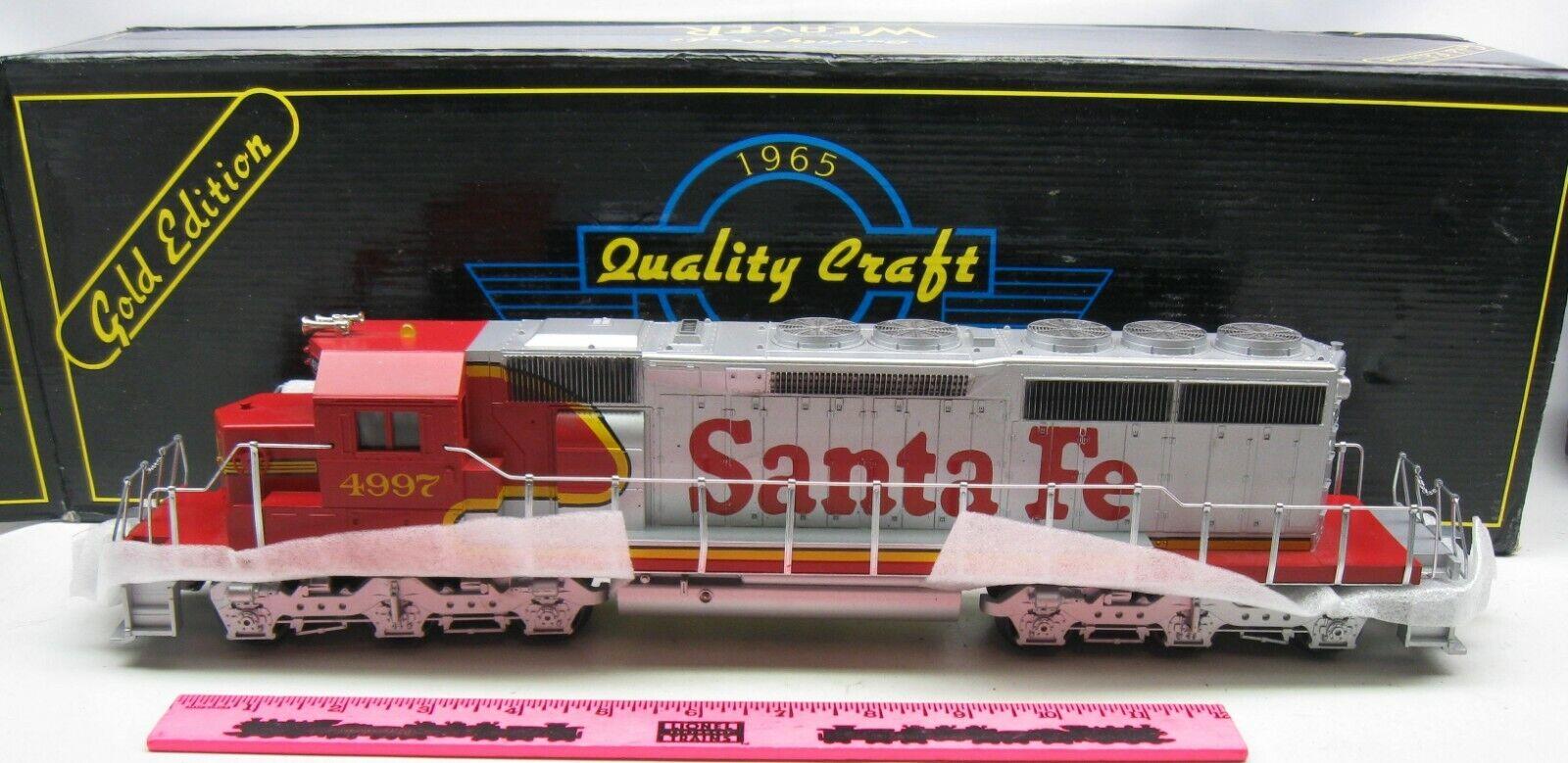 Weaver Santa Fe Warbonnet No. 4997 3-rail EMD SD40-2 Diesel