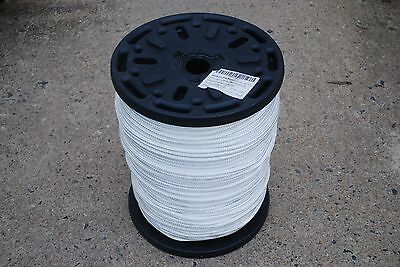 "Well-Educated 3/8"" X 1000' Double Braided Nylon Rope White Fibrous Dock Line Anchor Line New Marine Rope"