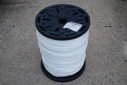 """3//8/"""" x 1000/' DOUBLE BRAIDED NYLON ROPE WHITE FIBROUS DOCK LINE ANCHOR LINE NEW"""