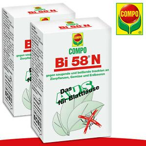 COMPO 2x 30ml Bi 58® N Insektenvernichter Blattläuse Rosen Blumen Pflanze Garten