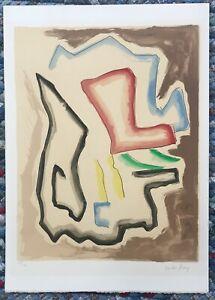 Original-Color-Lithograph-by-MAN-RAY-De-l-039-Origine-des-especes-signed-amp-numbered