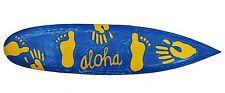 Deko Surfboard 100cm Aloha Surfbrett Hände Füße Hawaii Tiki Partykeller Lounge