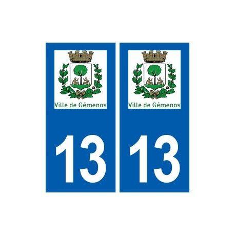 13 Gémenos logo ville autocollant plaque sticker arrondis