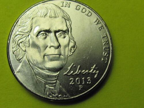 2013 P Brilliant Uncirculated Jefferson 5 cent