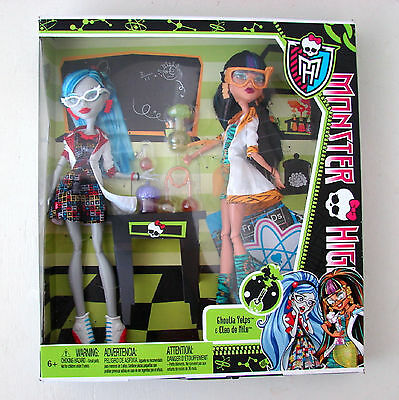 Ghoulia Yelps Cleo De Nile Monster High Home Ick Doll 2 Pack Mattel Science Lab