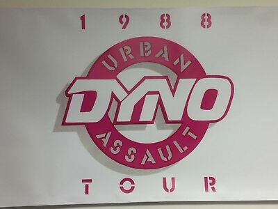 dyno bmx freestyle old school banner repro mancave garage shop display 2x4ft