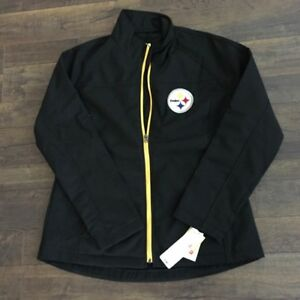 check out efb70 fadbe Details about NFL PITTSBURGH STEELERS WOMEN'S JACKET, MEDIUM Fast Shipping