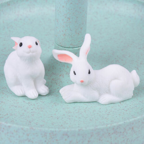 1X Mini Hase Handwerk Figur Garten Ornamente Miniatur Fee Garten Dekore  ST