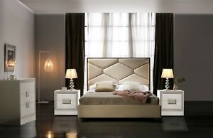 Details about ESF Martina Modern King Size Bedroom Set 5 Pieces, Made in  Spain by Dupen