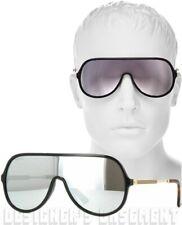 26a769cd0db GUCCI black frame GG 0199 S Vintage WEB mirror SHIELD Sunglasses NIB Authen   405