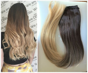 Image Is Loading Long Half Full Head Straight Ombre Clip In