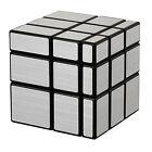 Shengshou 3 X 3 X3 Irregular Mirror Magic Cube Silver Twist Puzzle Smooth