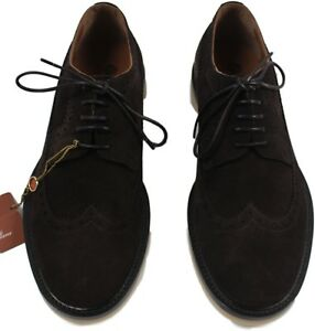 3f7beeaa18e LORO PIANA CHOCOLATE TOWNEY WALK MEN S SUEDE SHOES -MADE IN ITALY ...