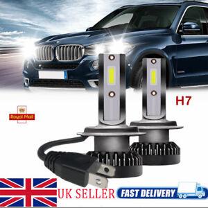 2x-Mini-110W-H7-LED-COB-Power-Headlight-Kit-Bulbs-Lights-Car-Driving-6000K-Lamp