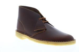 Clarks-Desert-Boot-26148539-Uomo-Marrone-Pelle-Mid-Top-Lacci-Desert-Boots