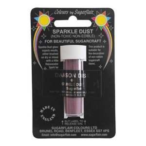 Sugarflair Damson Dusk Home & Garden Non-toxic Sparkle Dust 2g Carefully Selected Materials