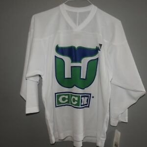 771ba58049f NHL CCM Old Style Hartford Whalers Hockey Jersey NEW Youth S/M | eBay