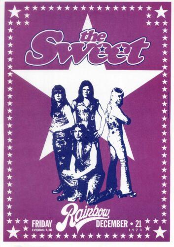 Concert VINTAGE BAND POSTERS Rock Travel Old Advert #ob Sweet 1973