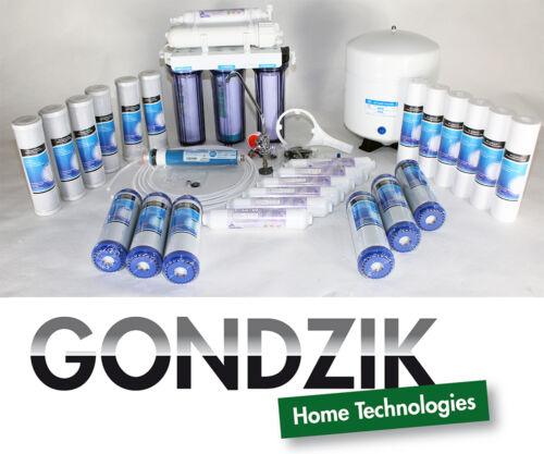 3 anni Set di filtri Filtro 24 Gondzik 5 STADI OSMOSI INVERSA merce nuova k200l3t