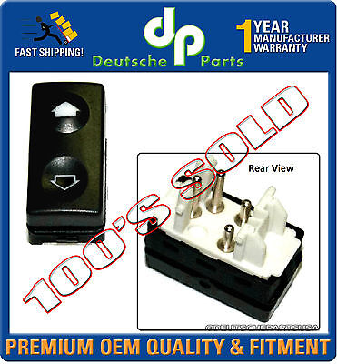 REAR POWER WINDOW WINDER SWITCH SWITCHES 61311393361 BLUE BACK for BMW E36