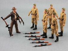 Rare Lot 6 Pcs Russian Soldiers Troopers Indiana Jones Action Figure toys N9