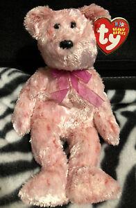 Ty Original Beanie Baby Smitten Bear Pink Soft Valentine's Day 2002 Love