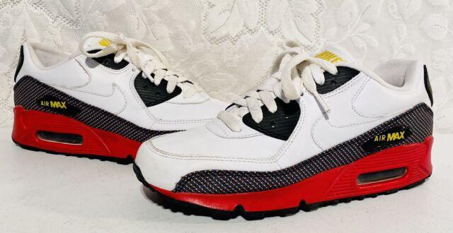 Nike Air Max 90 Women's Size 8 312052-118 White Red Black Yellow Rare Shoes Run